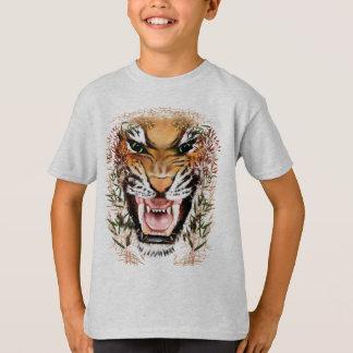 T-shirt Mauvaises chemises de visage de tigre