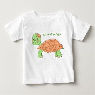 """T-shirt MC """"Rien ne sert de courir"""" Tortue bébé"""
