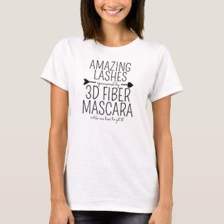 T-shirt Mèches extraordinaires commanditées par le mascara