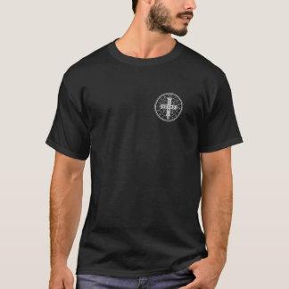 T-shirt Médaille de St Benoît sur la chemise noire