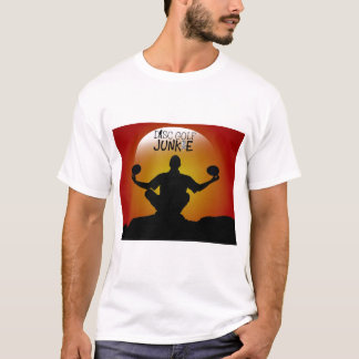 T-shirt Méditation de drogué de golf de disque