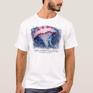 T-shirt Méduses pourpres de rayure