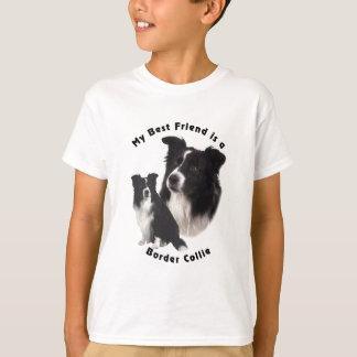 T-shirt Meilleur ami border collie