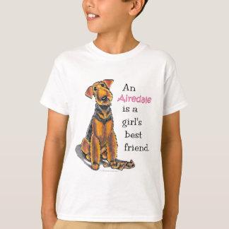 T-shirt Meilleur ami de filles d'Airedale Terrier