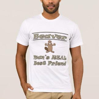 T-shirt Meilleur ami de l'homme de castor le vrai