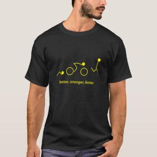 T-shirt meilleur, plus fort, plus rapidement : triathlete