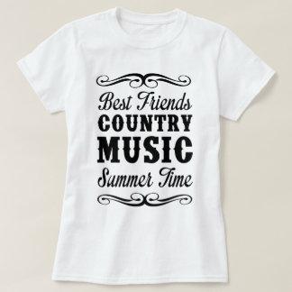 T-shirt Meilleurs amis, musique country, heure d'été