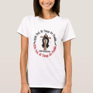 T-shirt Mélanome AVEC la CROIX d'un DIEU