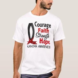 T-shirt Mélanome d'espoir de force de foi de courage
