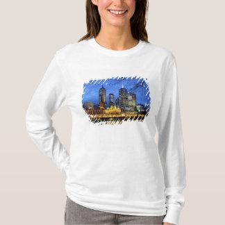 T-shirt Melbourne, Australie. Une vue de nuit de