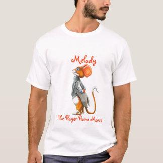 T-shirt Mélodie la souris de piano de joueur