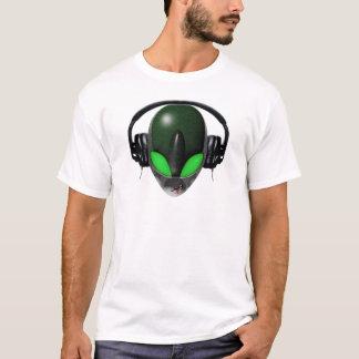 T-shirt Mélomane étranger du DJ - vert de reptile