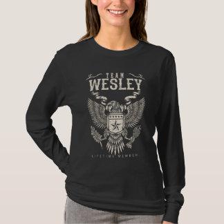 T-shirt Membre de vie de WESLEY d'équipe. Anniversaire de