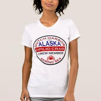 T-shirt Membre d'équipage néerlandais de crabe d'Opilio de