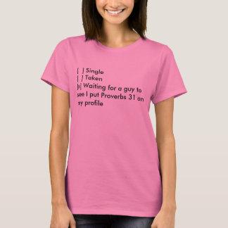 T-shirt Memes baptiste : Simple, pris, proverbes 31