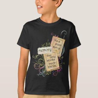 T-shirt Mémoire des pensées de Lewis Carroll