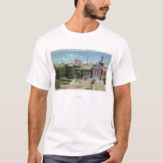 T-shirt Mémorial de Bushnell, statue de Lafayette