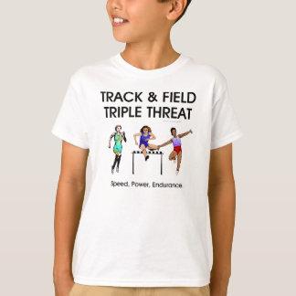 T-shirt Menace SUPÉRIEURE de triple de voie