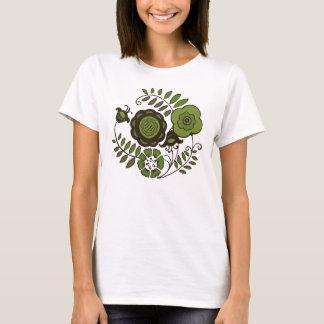 T-shirt Menthe florale