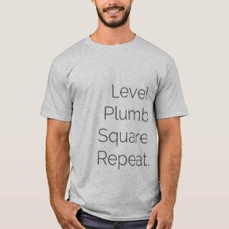 T-shirt Menuiserie de niveau solides solubles de carré de