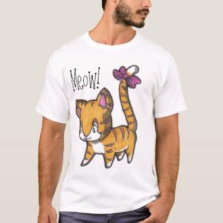 T-shirt Meow ! Chemise de Kitty pour des enfants !