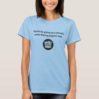 T-shirt Merci pour me donner l'avis d'une minute…