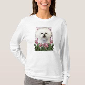 T-shirt Merci - tulipes roses - Bichon Frise