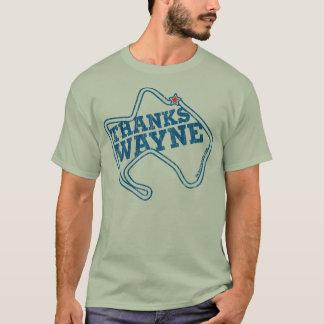 T-shirt Merci Wayne (bleu vintage/gld)