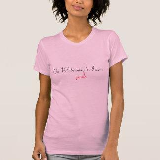 T-shirt Mercredi est tee - shirt rose