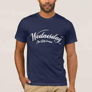 T-shirt Mercredi la ville est à nous - léger blanc de