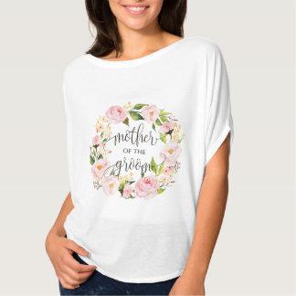 T-shirt mère de la guirlande florale -5 de marié
