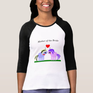 T-shirt Mère de mariage de licorne de la jeune mariée