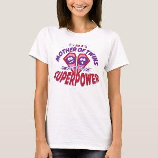 T-shirt Mère des jumeaux - SUPERPUISSANCE