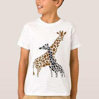 T-shirt Mère et enfant de girafe