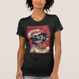 T-shirt Mère et fille de Dia de Los Muertos Skeletons