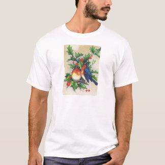 T-shirt Merles et Noël de houx