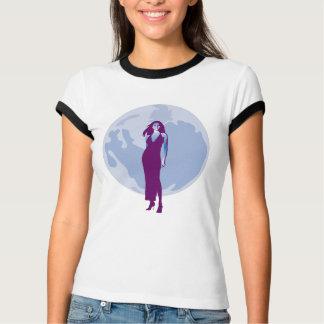 T-shirt Merlot éclairé par la lune