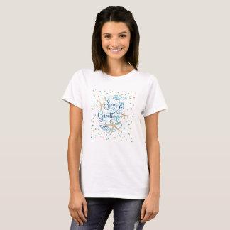 T-shirt Mers tropicales ET salutations, Brown et points