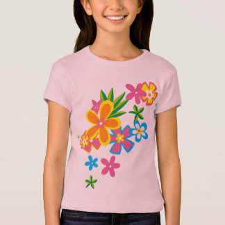 T-shirt merveilleux de filles de fleurs de danse
