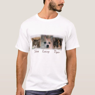 T-shirt mes 3 animaux familiers
