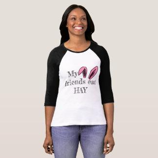 T-shirt Mes amis mangent la chemise de lapin de FOIN