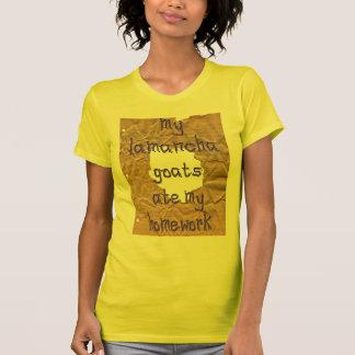 T-shirt Mes chèvres de LaMancha ont mangé mon travail