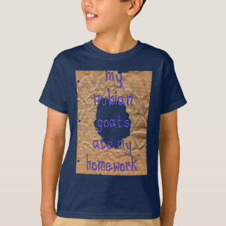 T-shirt Mes chèvres de Nubian ont mangé mon travail