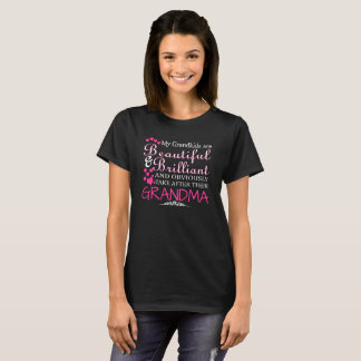 T-shirt Mes Grandkids sont beaux et brillants et Obvio
