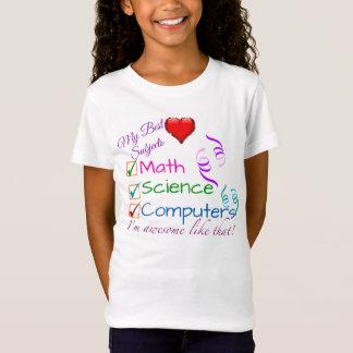 T-Shirt Mes meilleurs sujets - maths, la Science,