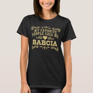 T-shirt Mes personnes préférées m'appellent Babcia