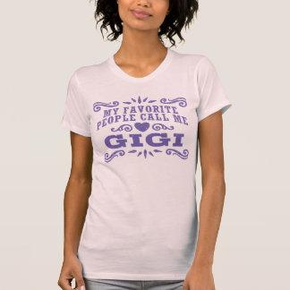 T-shirt Mes personnes préférées m'appellent Gigi