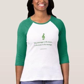 T-shirt Message dans les FEMMES ' S de CHEMISE de musique