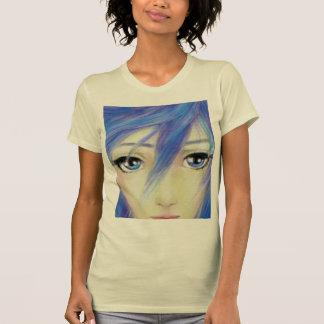 T-shirt Message d'yeux bleus