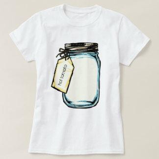T-shirt Message personnalisé par pot de boule